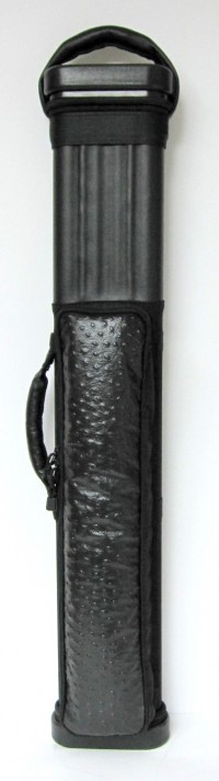 Black Ostrich Embossed Cowhide Leather.